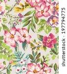 seamless vintage tropical... | Shutterstock .eps vector #197794775