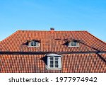 Old House With A Red Tile Roof...