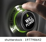 fingers turning a willpower... | Shutterstock . vector #197798642
