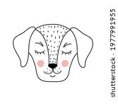 cute adorable dog in doodle... | Shutterstock .eps vector #1977991955