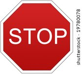 stop sign | Shutterstock . vector #19780078