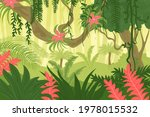 jungle forest background. woods ...