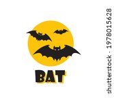 emblem of halloween flying bats ...   Shutterstock .eps vector #1978015628