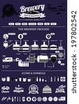 brewery infographics with beer... | Shutterstock .eps vector #197802542