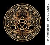 yggdrasil tree of life celtic...   Shutterstock .eps vector #1978042052