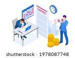 isometric project deadline.... | Shutterstock .eps vector #1978087748