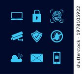 nine cyber security set icons   Shutterstock .eps vector #1978105922