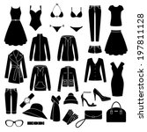 set of women's clothes and...
