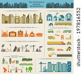 set of modern city elements for ... | Shutterstock .eps vector #197816552