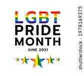 pride month at june 2021 lgbt ...   Shutterstock .eps vector #1978169375