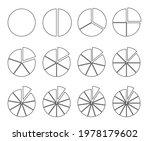 circle outline chart. fraction... | Shutterstock .eps vector #1978179602