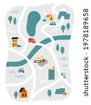cute town map for kid's room.... | Shutterstock .eps vector #1978189658