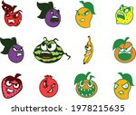 evil and angry fruits and... | Shutterstock .eps vector #1978215635