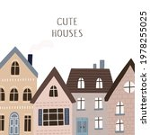 cute houses hand drawn vector... | Shutterstock .eps vector #1978255025
