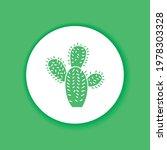 cactus color glyph icon....