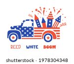 Patriotic Truck In The Colors...