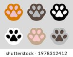 cat paws lines background.... | Shutterstock .eps vector #1978312412