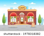 summer cafe with a table.... | Shutterstock .eps vector #1978318382