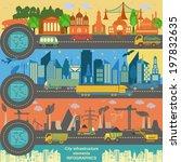 set of modern city elements for ... | Shutterstock .eps vector #197832635