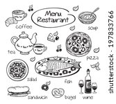 elements for restaurant menu.... | Shutterstock . vector #197833766