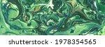 Light Artistic Ink Spots  Green ...
