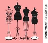 vector vintage tailor's... | Shutterstock .eps vector #197836418