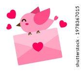 Happy Pink Bird Carry An...