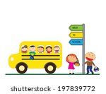 happy girls and boys back to... | Shutterstock .eps vector #197839772