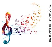 abstract music background with... | Shutterstock .eps vector #197840792