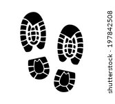 shoe print icon | Shutterstock .eps vector #197842508