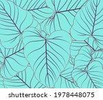 blue monstera  leaves seamless... | Shutterstock .eps vector #1978448075