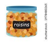 raisins in glass jars for bulk... | Shutterstock .eps vector #1978480265