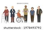 group of senior people in... | Shutterstock .eps vector #1978493792