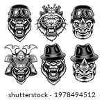 a set of black and white animal ... | Shutterstock .eps vector #1978494512