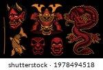 colorful vector samurai clipart ... | Shutterstock .eps vector #1978494518