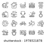 sports icons set. included icon ... | Shutterstock .eps vector #1978521878