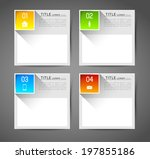 infographic template banners... | Shutterstock .eps vector #197855186