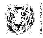 tiger face. predator. wildcat.... | Shutterstock .eps vector #1978564235