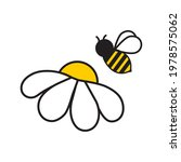 Vector Image Of A Bee On A...