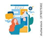 online news content  headlines  ...   Shutterstock .eps vector #1978575302