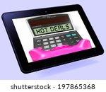 hot deals calculator tablet... | Shutterstock . vector #197865368