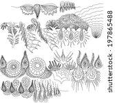 underwater landscape  ocean... | Shutterstock .eps vector #197865488