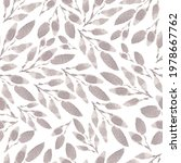 seamless soft gray leaves... | Shutterstock .eps vector #1978667762