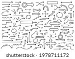 hand drawn arrows  collection... | Shutterstock .eps vector #1978711172