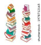 stacks of books isolated on... | Shutterstock .eps vector #1978712165