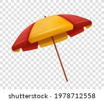 realistic red and yellow beach... | Shutterstock .eps vector #1978712558
