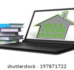 sell your house tablet home... | Shutterstock . vector #197871722