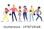 a set of male and female...   Shutterstock .eps vector #1978718168
