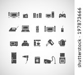 home appliances icons | Shutterstock .eps vector #197873666