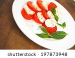 mozzarella cheese tomato and... | Shutterstock . vector #197873948